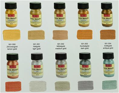 Metallic verf op hout